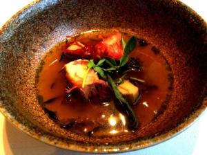 abalone-with-pan-seared-artichokes-lemon-broth-green-tea-and-seaweed